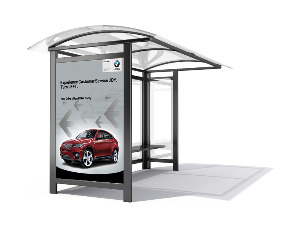 Center BMW - Bus stop mock up